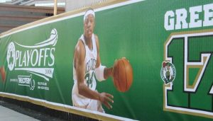 custom fence banner for NBA
