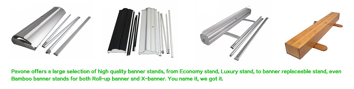 all kinds of roll up banner stands
