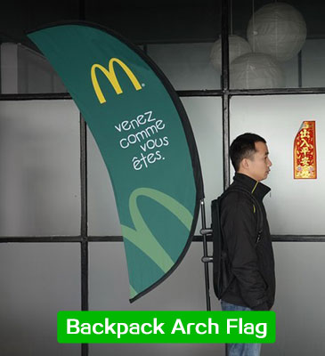 backpack arch flag