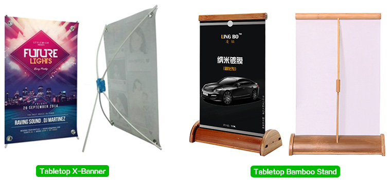 tabletop-X-banner-and-tabletop-bamboo-stand