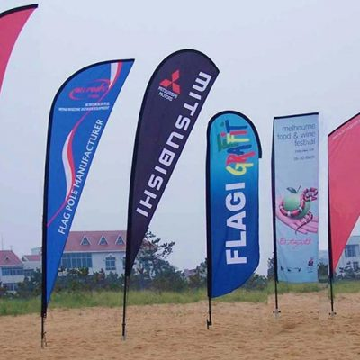 advertising beach flags