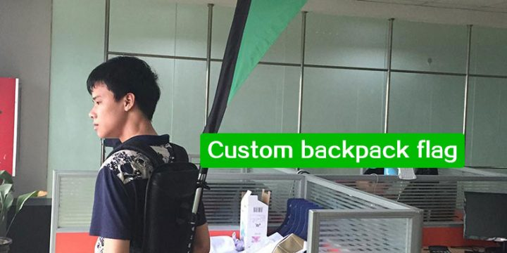 Custom backpack flag