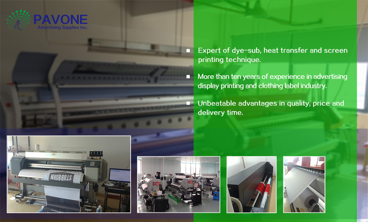 About Pavone advertising supplies