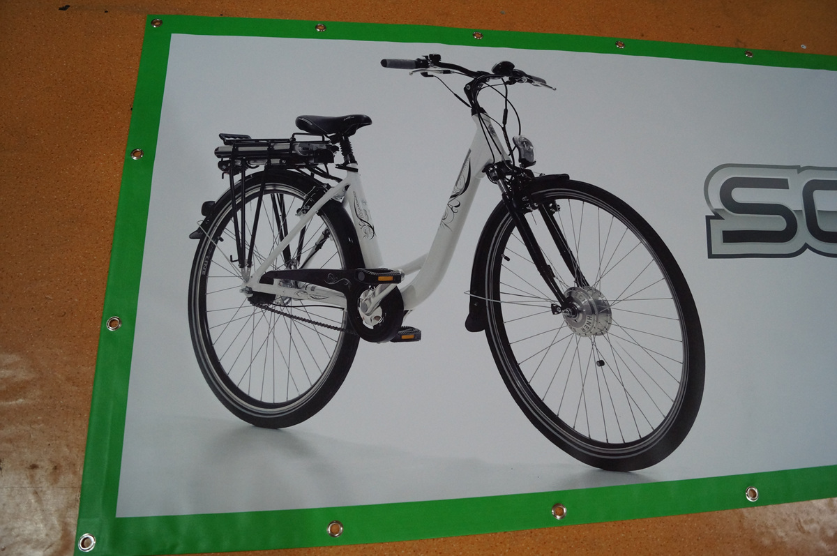 vinyl banner for electric bikes