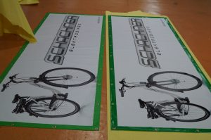 vinyl banners in two different vinyl material