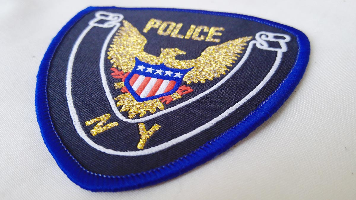 Embroidered-NY-police-patch