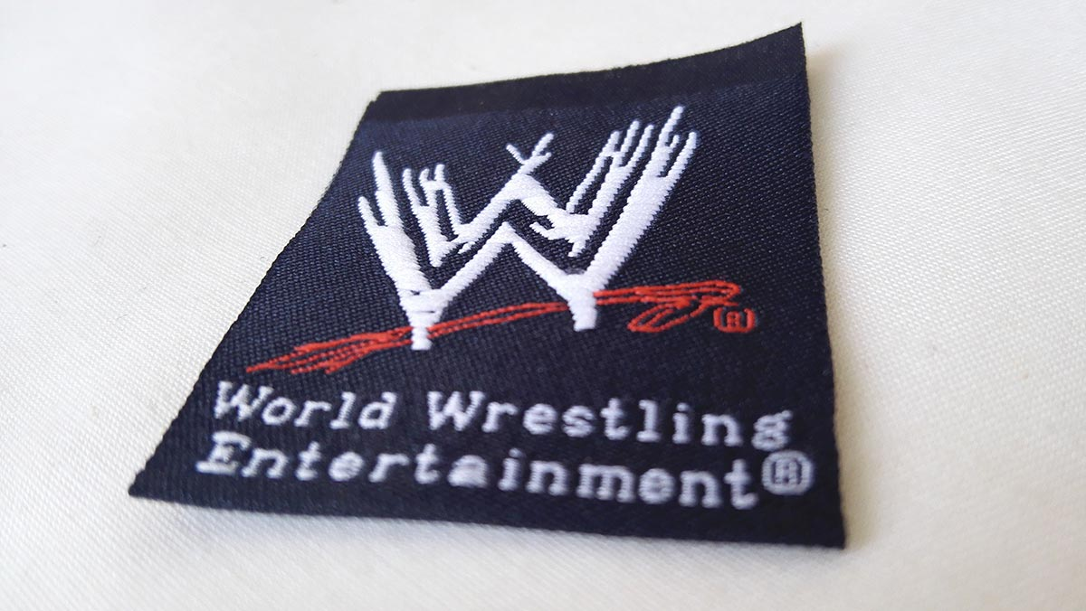 WWE-clothing-woven-label-