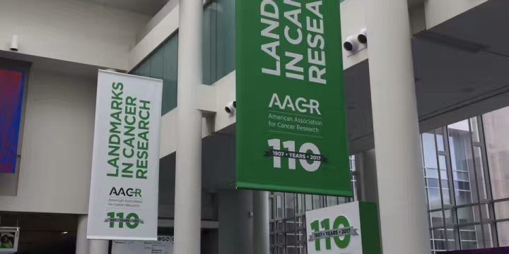 Custom printed banners for Annual Meeting of AACR in Washington, DC.
