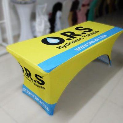 Custom printed table throw